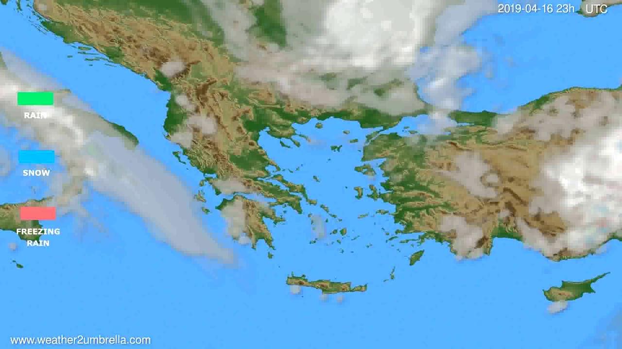 Precipitation forecast Greece // modelrun: 12h UTC 2019-04-13