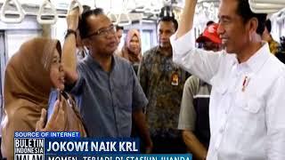 Video Heboh! Penumpang Kaget Ternyata Presiden Jokowi Naik Kereta Commuter Line - BIM 29/09 MP3, 3GP, MP4, WEBM, AVI, FLV Januari 2019