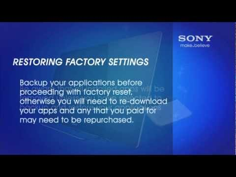 reset Sony Bravia - Sony wants your feedback! http://bit.ly/WcYjMO If your Sony Internet tv encounters an issue which technical support is unable to fix, you may need to perform...