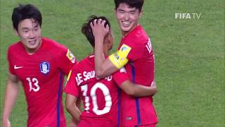 Watch highlights of the match between Korea Republic and Guinea from the FIFA U-20 World Cup in Korea Republic.