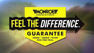 Monroe Feel the Difference Guarantee