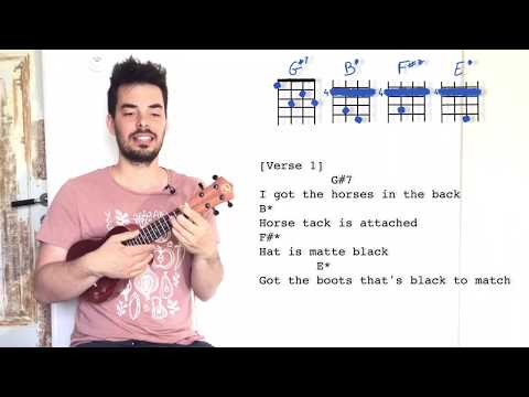 OLD TOWN ROAD Ukulele Tutorial cool chords - Lil Nax S
