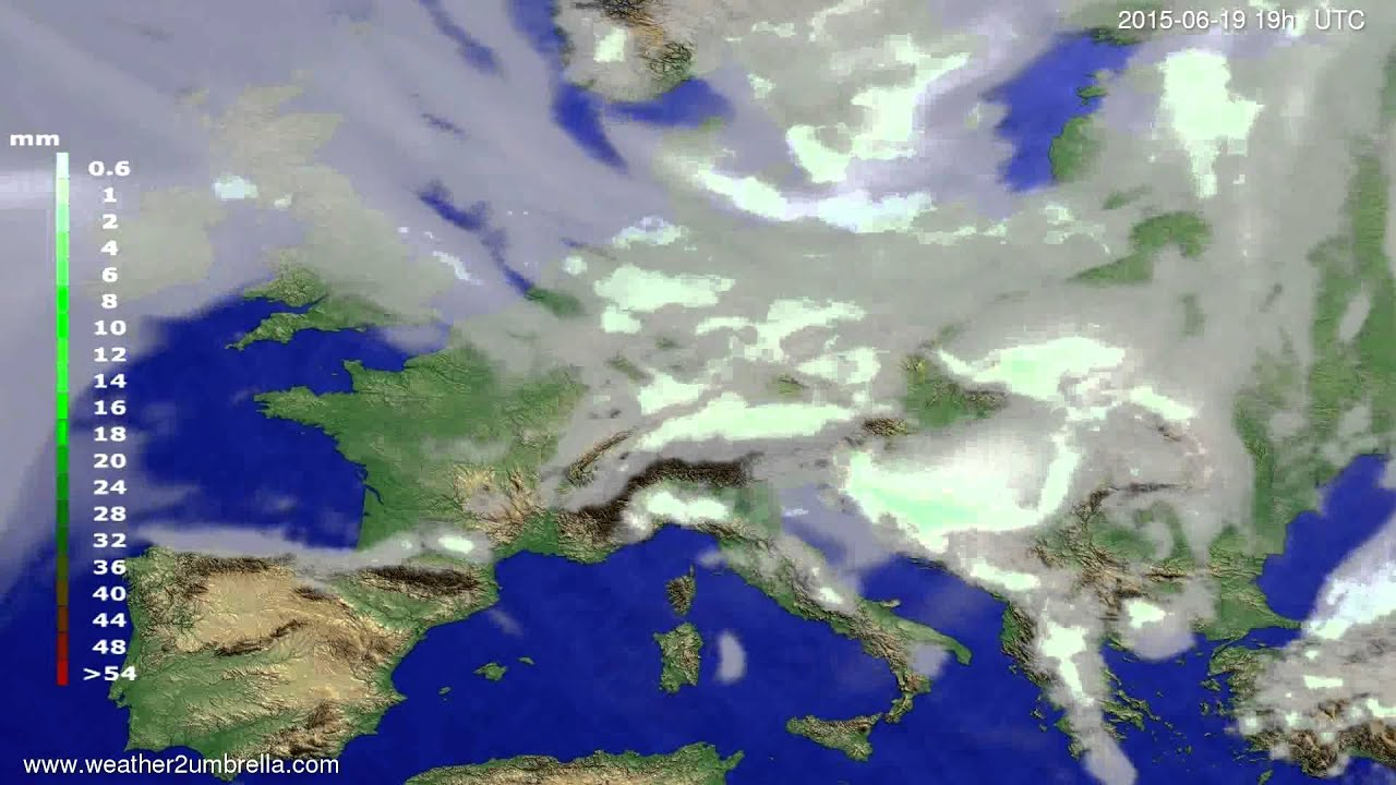Precipitation forecast Europe 2015-06-17