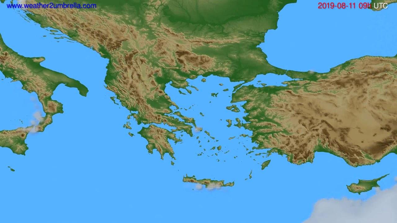 Cloud forecast Greece // modelrun: 00h UTC 2019-08-09
