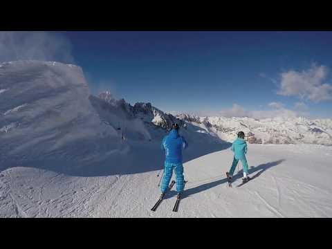 Ski Presena Glacier Passo tonale January 2019
