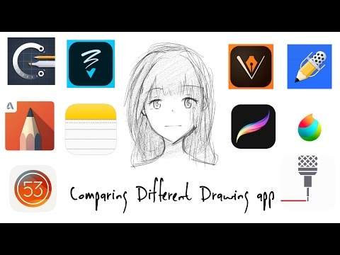 Comparing Different Drawing App (IPad Pro 9.7)