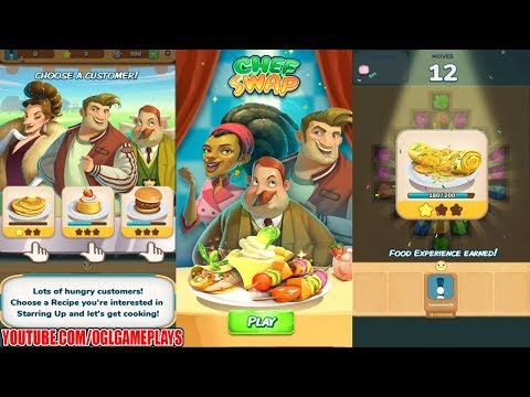 Chef Swap – A Fun Match 3 Cooking Game (By Big Fish Games) Android Gameplay