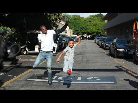 Kid Challenges Usain Bolt