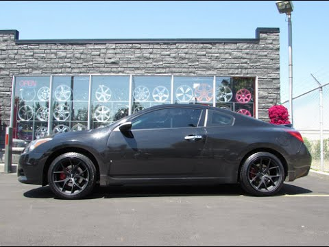 2013 NISSAN ALTIMA COUPE ON CUSTOM 18 INCH MATTE BLACK RIMS &TIRES