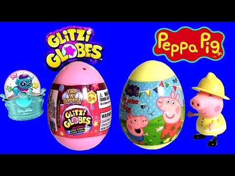 pig - ToyChannel DisneyCollector presents Glitzi Globes Surprise egg Vs. Peppa Pig Surprise egg from Nickelodeon. In this DIY tutorial i will show you how to make beautiful glitter snow globes!!!...