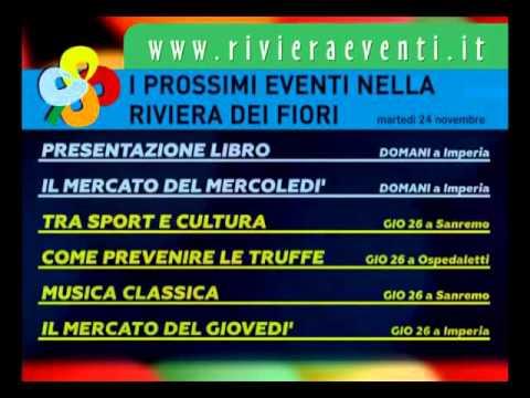 GLI APPUNTAMENTI DI RIVIERA EVENTI DI MARTEDI' 24 NOVEMBRE 2015