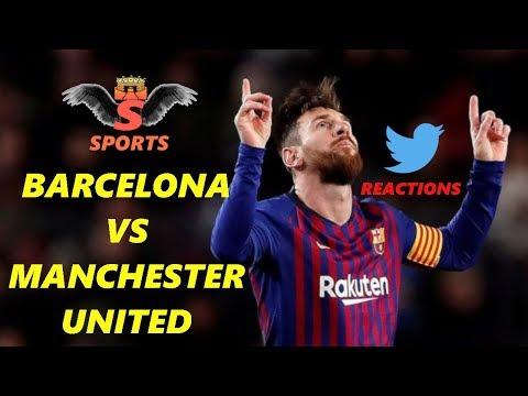 Barcelona vs Manchester United (3-0) Twitter Reactions