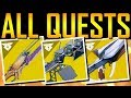 Destiny 2 - ALL EXOTIC QUESTS! SECRET CODE!