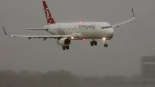 A321 Turkish Airlines on Rough approach to Amsterdam Schiphol Airport during summer storm 25 July 2015.https://www.planespotters.net/airframe/Airbus/A321/5490/TC-JSG-Turkish-AirlinesTC-JSG Turkish Airlines Airbus A321-231(WL) - cn 5490Airframe DetailsConstruction Number (MSN) 5490Aircraft Type Airbus A321-231First Flight 18. Feb 2013Age 2.9 YearsTest registration D-AZAJAirframe Status Active