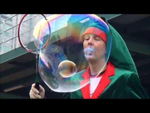 魔法泡泡表演