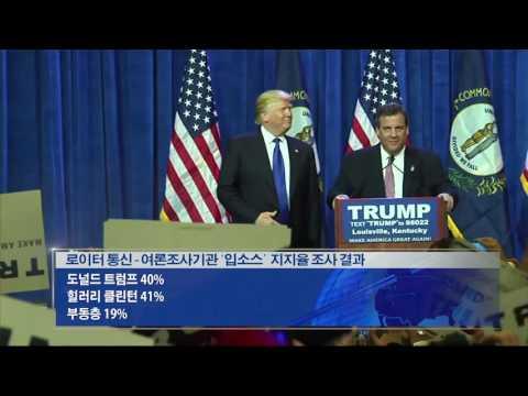 대선 가상대결 '사실상 동률' 5.11.16  KBS America New
