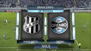 Curta - https://www.fb.com/OsGolsHD Siga - https://twitter.com/OsGolsHD Ponte Preta 3 x 0 Grêmio Gols, Ponte Preta 3 x 0 Grêmio - Brasileirão 14/09/2016
