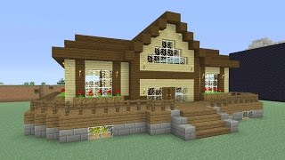 Minecraft Tutorial: How To Make An Awesome Wooden Survival House #5 (ASH#27)