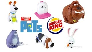 2016 BURGER KING THE SECRET LIFE OF PETS MOVIE KIDS MEAL TOYS KING JR FULL SET 6 UNBOXING COLLECTION full download video download mp3 download music download