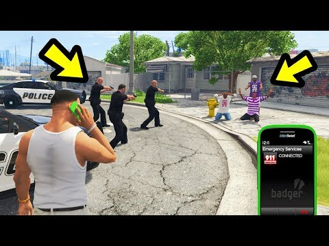 GTA 5 - What Happens if you call Police to Grove Street?