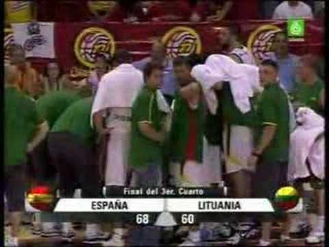 Espectacular canasta España - Lituania