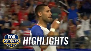 Dempsey ties Landon Donovan's all-time USMNT goal record   2017 CONCACAF Gold Cup Highlights by FOX Soccer