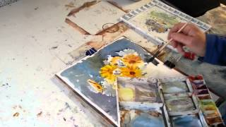 Watercolour Painting How to paint flowers