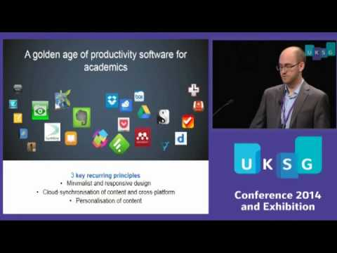 UKSG 2014 (11) Plenary 3 – Channelling information flows: a young researcher's approach to…