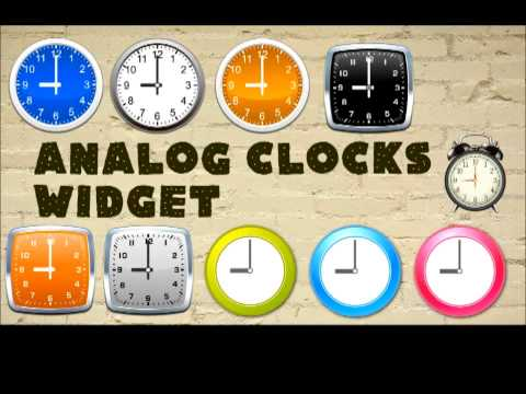 Video of Analog clocks widget – simple