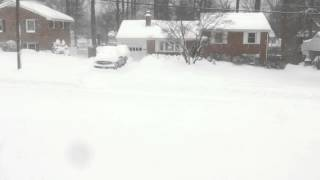 Springfield (VA) United States  city images : Snowfall in Springfield Virginia during January 2016 Blizzard