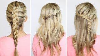 4 basic DIY braids - YouTube