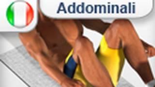 Esercizio addominali ginocchia al petto