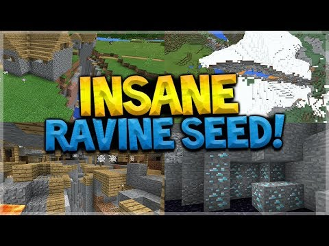 INSANE RAVINE SEED!! Minecraft Pocket Edition - 1.2 Mineshaft Ravine, Diamonds, & MORE!!!!