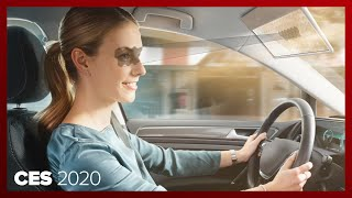 This futuristic AI-powered LCD sun visor could put an end to squinting by Roadshow