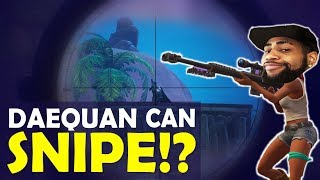 Download Video DAEQUAN SNIPING IS INSANE | CAN HE SNIPE?| BOP BOP  | HIGH KILL FUNNY GAME- (Fortnite Battle Royale) MP3 3GP MP4