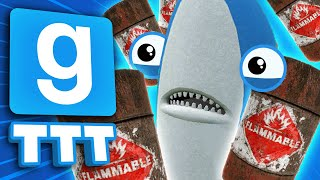 EXPLOSIVE BARRELS EVERYWHERE! | Gmod TTT