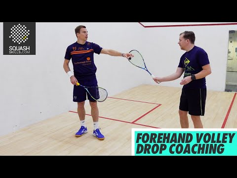 Squash tips: Forehand volley drop coaching with Nick Matthew