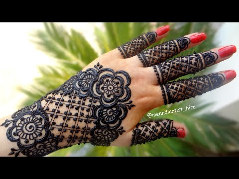 Apply Latest Gulf Easy Simple Henna Mehndi Designs For