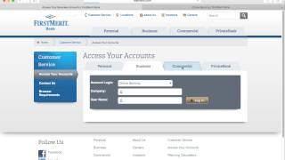 Login - https://www.firstmerit.com/customer-service/log-in/index.htmlInstructions - http://bank-online.com/firstmerit/firstmerit-online-banking-login/A FirstMerit account may be accessed via their website by going to their secure login webpage. The user may choose to access their Online Banking, Retirement Plans, Account View, ReadySpend PrePaid MasterCard, or their Red-e-Spend Card. This first step in the secure process is to enter the Username of the account holder.