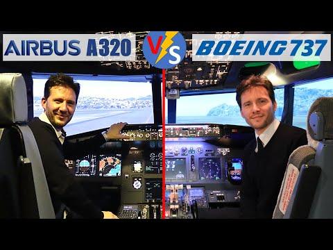 Différences Airbus A320 / Boeing 737 en pilotage & cockpit - explications en simulateur de vol