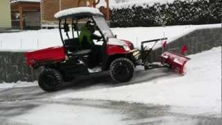 6. UTV KIOTI Mechron with snow plow