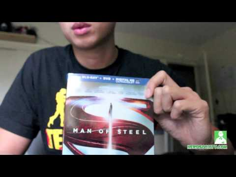 0 Exclusive: Man Of Steel Blu Ray Unboxing