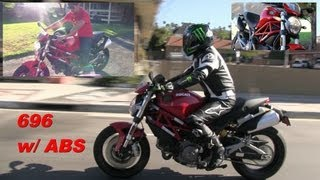 7. DUCATI MONSTER 696 with ABS - Test Ride & Walk Around Video