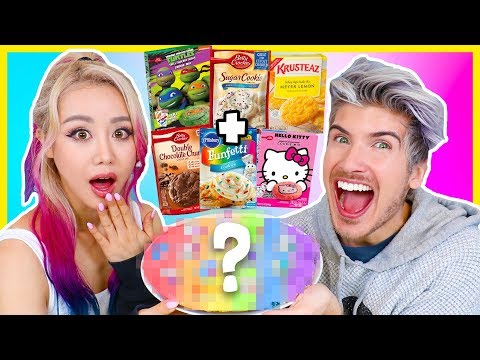 MIXING EVERY COOKIE MIX TOGETHER! TASTE TEST w/ Wengie