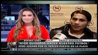 ENTREVISTADORA COQUETEA A PAOLO GUERRERO EN FOX SPORTS ARGENTINA