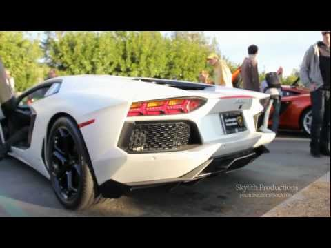 MODDED EXHAUST Lamborghini Aventador HUGE REVVS And DRIVE-BYS!