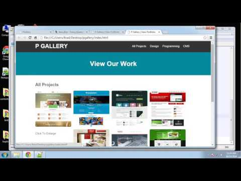 Learn how to create a responsive image gallery using jQuery Part 4