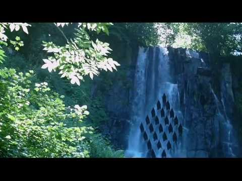 Relax music, nature, forest, waterfall, mountains, relaxing music and melodious