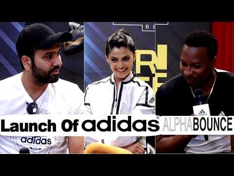 Rohit Sharma, Saiyami Kher & Kieron Pollard At Launch Of Adidas Alphabounce Beyond