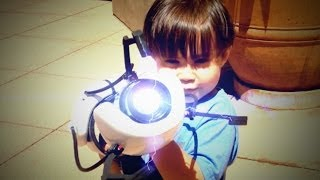 3-Year-Old with a Real Portal Gun